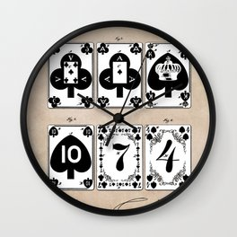 patent Playing cards 1877 Saladee Wall Clock