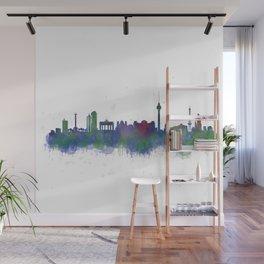 Berlin City Skyline HQ2 Wall Mural