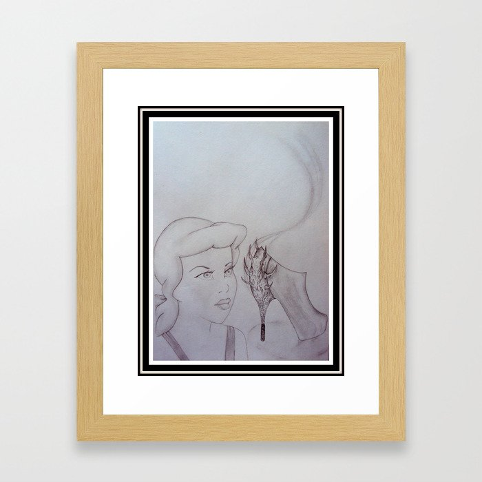 Cinderella and The Spiked Heel Framed Art Print