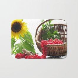 Red summer fruits image Bath Mat