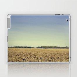Lonely Field in Blue Laptop & iPad Skin
