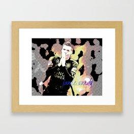 football star Framed Art Print