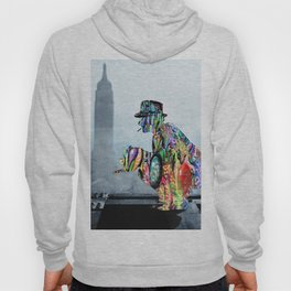 New York Photographer On Unfinished Skyscraper and Skyline Blue Hoody