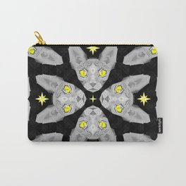 Sphynx Cat Black Pattern Carry-All Pouch