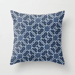 Blue Spinners Throw Pillow