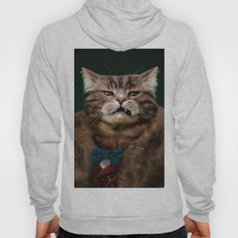Arrogant sophisticated dressed cat boss looking with contempt Hoody