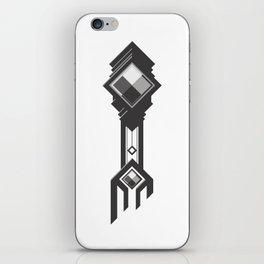 Binary Clocktower Key iPhone Skin