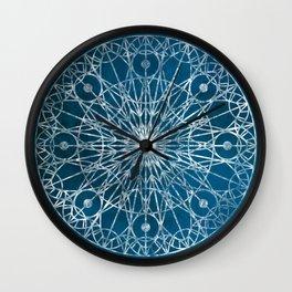Rosette Window - Blue Wall Clock