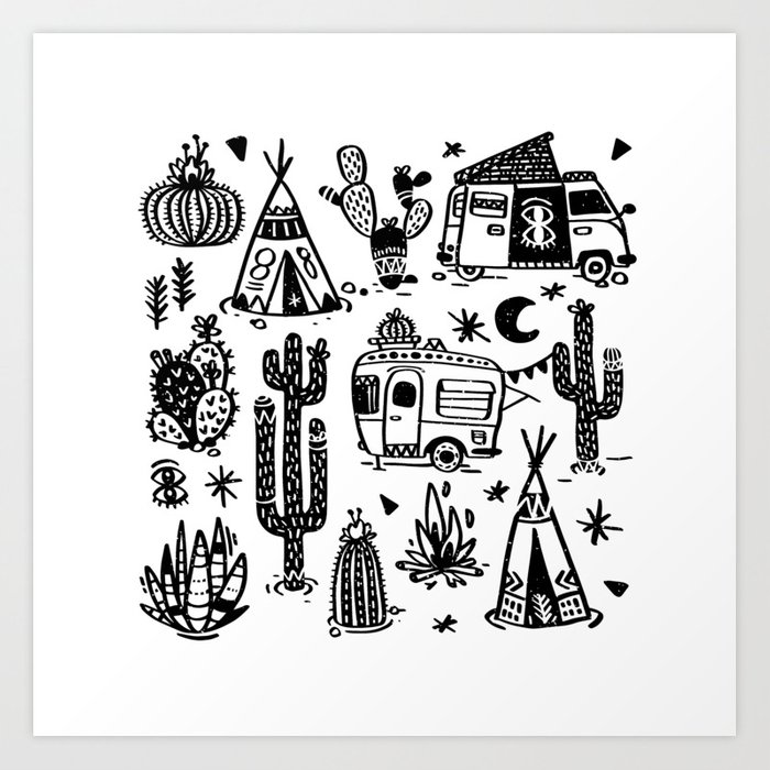 Sleeping Desert Art Print