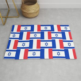 Mix of flag: france and israel Rug