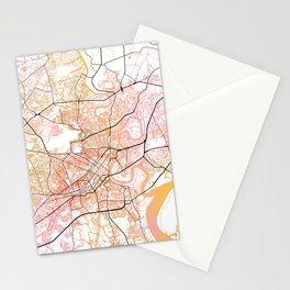 Ho Chi Minh City Street Map Color Stationery Cards
