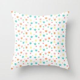 Bright Sea of Stars Throw Pillow