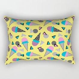 Cruncher - memphis throwback ice cream cone desert 1980s 80s style retro geometric neon pop art Rectangular Pillow