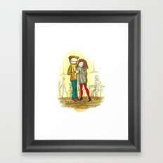 Coffee + Love Framed Art Print