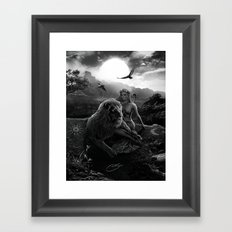 VIII. Strength Tarot Card Illustration Framed Art Print