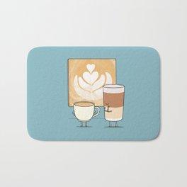 Latte art Bath Mat