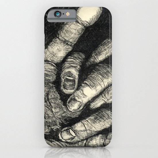 Etched Hand #1 iPhone & iPod Case