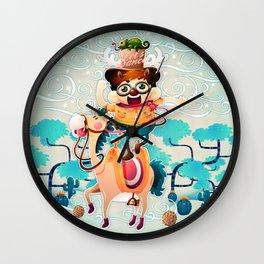The dancing cowboy Wall Clock
