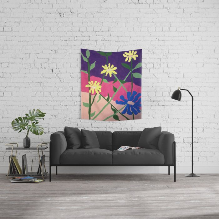 Colorful Flower Abstract Wall Tapestry