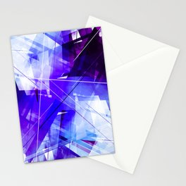 Indigo Chaos - Geometric Abstract Art Stationery Cards