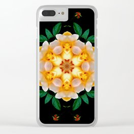 Yellow flower motif Clear iPhone Case