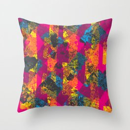 Fuchsia Picnic Throw Pillow