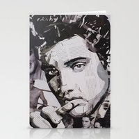elvis Stationery Cards featuring Elvis by Ross Collins Artist
