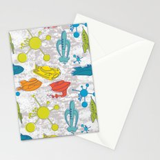 Atoms and Spaceships Stationery Cards