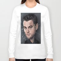leonardo dicaprio Long Sleeve T-shirts featuring DiCaprio Caricature by Stevie Ray Thompson
