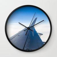 airplane Wall Clocks featuring Airplane by Fernando Derkoski