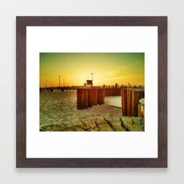 Sunset On Venice Beach  Framed Art Print