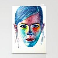 emma watson Stationery Cards featuring Emma Watson by Stella Joy