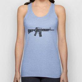Pew Pew AR-15 Unisex Tank Top