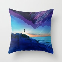 Since the moment I left Purple Throw Pillow