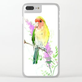 Lovebird and Flower Clear iPhone Case