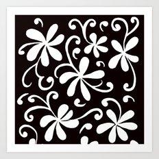White on Black Art Print