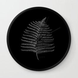 New Zealand Fern Leaf Wall Clock