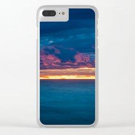 Lake Michigan Sunset Clear iPhone Case
