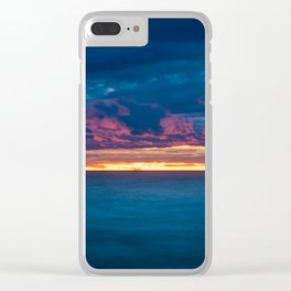 Lake Michigan Sunset Clear iPhone Case