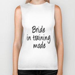 Bride in training mode Biker Tank