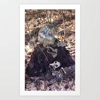 Rucus Studio Halloween Drucilla Fusspot Art Print