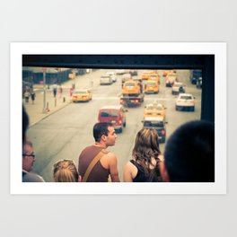 The Taxi Show Art Print