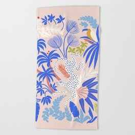 Rainforest Leopard Beach Towel