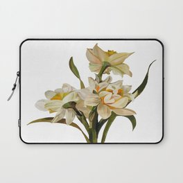 Double Narcissi Bouquet Vector Laptop Sleeve