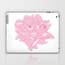Pink and White Peony Flower Summer Garden Illustrated Print Laptop & iPad Skin
