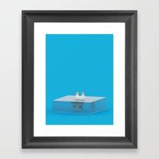 drowned (voxel) Framed Art Print