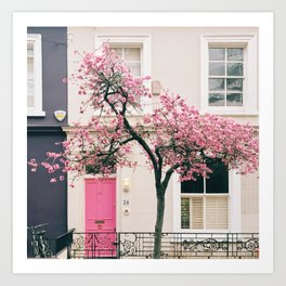 British Blossoms, London Art Print