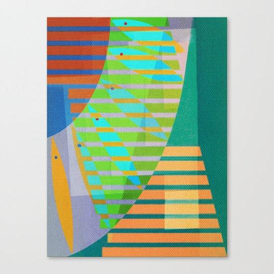A Lama, o Mangue e o Mar (The Mud, the Mangue and the Sea) Canvas Print