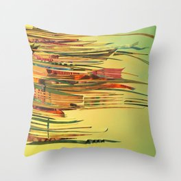 The Sewing Kit- Abstract Fantasy Decoupage Throw Pillow