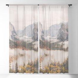 Amazing Yosemite California Forest Waterfall Canyon Sheer Curtain